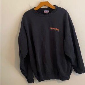 """Hanes """"Hawaii Racing """" Xl Black Sweatshirt"""